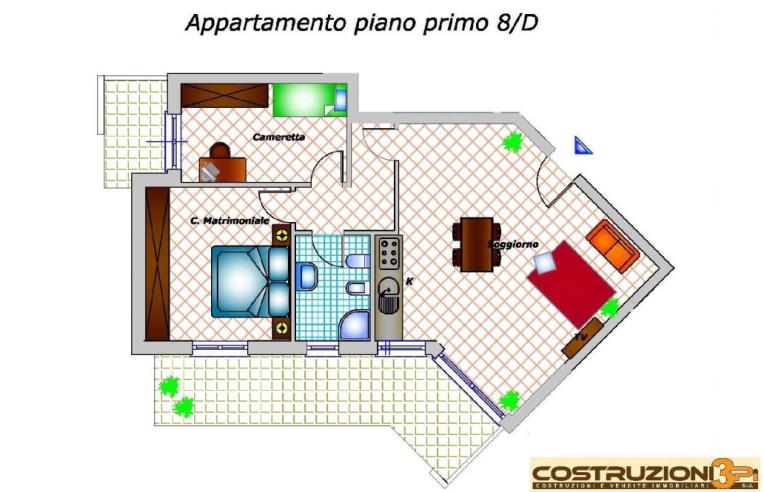 Costruttore Vende Appartamento, Gessate Trilocale con Terrazzo ...