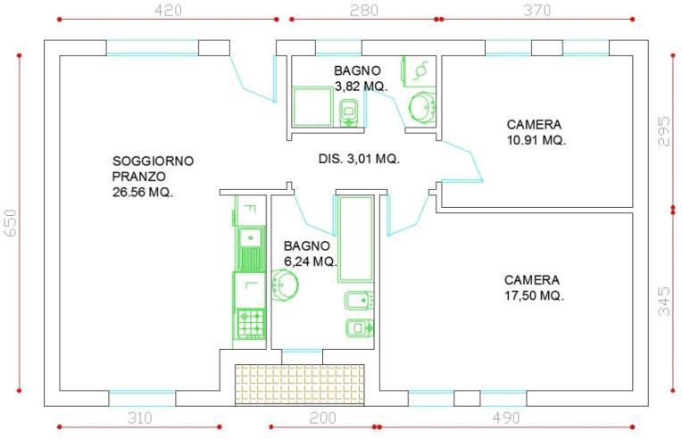 Privato vende appartamento appartamento con due camere for Garage prefabbricato con costo dell appartamento